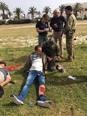 CTPF-funded Tactical Medical training exercise in Tunis, Tunisia, April 2019. (Photo credit: Jennifer Gauck)