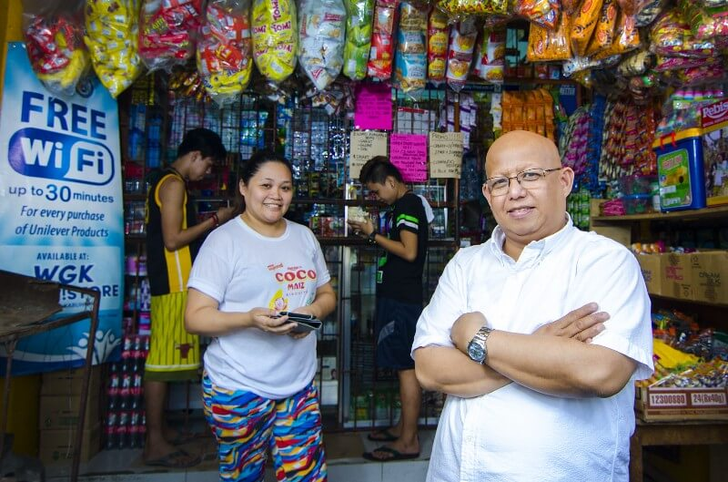 Consumer companies are providing free wifi with product purchases in the Philippines to connect the last billion.